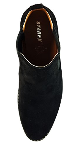 Herren Wildleder Chelsea Stiefel Italian Style Smart Casual Desert Dealer Knöchel Schuhe, braun, UK9 / EUR 43 Schwarz