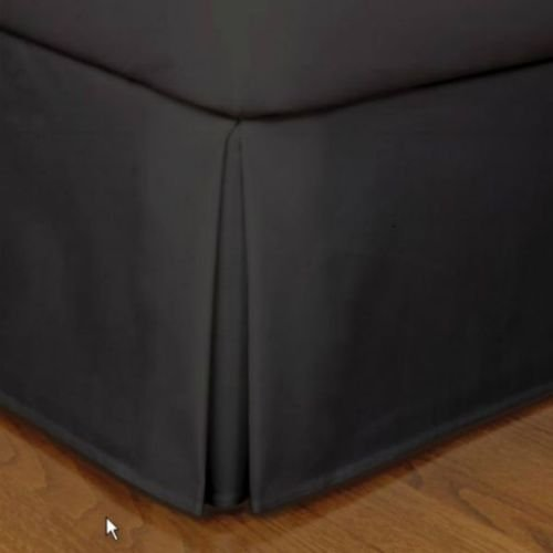Black Micro Suede King size Dust Ruffle Bedding Bed Skirt 14