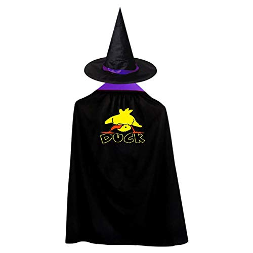 Duck Kids' Witch Cape With Hat Simple Vampire Cloak For Halloween Cosplay Costume -