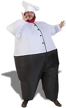 Chef cocinero disfraz traje inflable con sombrero: Amazon.es ...