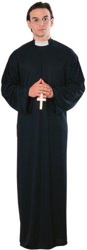 Rubie's Costume Priest Costume (Adult), Black, Standard One Size
