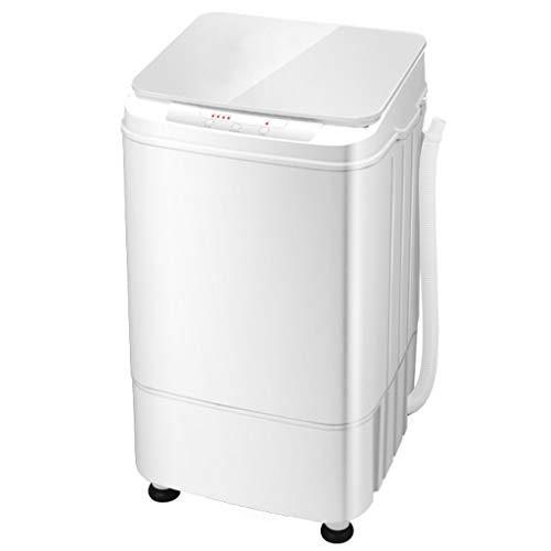 Portable Eco Washer Washing Machine,Semi-Automatic Microcomputer Washing Machine Home Dormitory Mini Small Pulsator 365410680 MM (White)