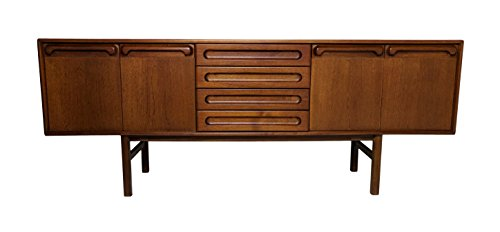 Large Mid Century Modern teak Credenza, sideboard or console by Meredew