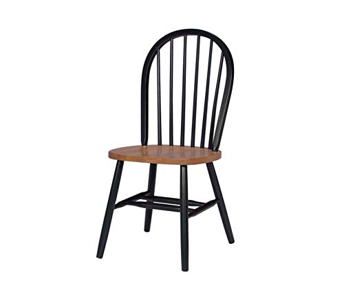 Spindle Back Cherry - Premium 37-Inch High Spindle Back Chair, Black/Cherry