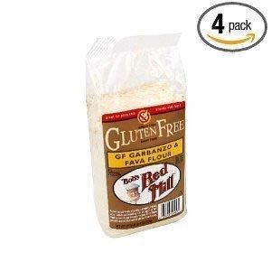 Bob's Red Mill Flour, Garbanzo / Fava, Gluten-Free 22 oz. (Pack of 4) by Bob's Red Mill