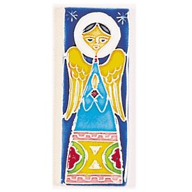 Hand Painted Ceramic Name Tiles - Hand Painted Decorative Small Angel Tile From Italy