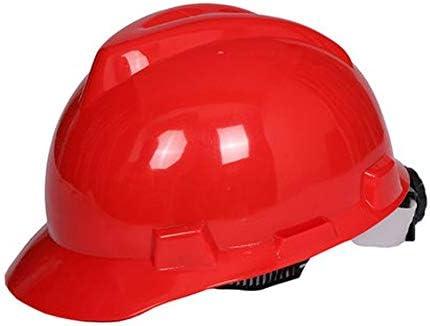 Rui Peng 安全性 ハード帽子 - 調整可能な建設ヘルメットヘッド保護機器個人用保護具、建設、改築およびDIYプロジェクト/PP用 (Color : Red)
