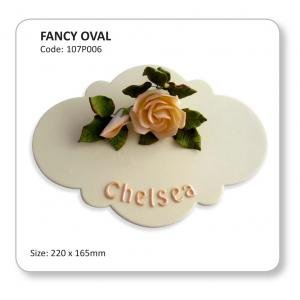 Fancy Oval Plaque Cutter by JEM
