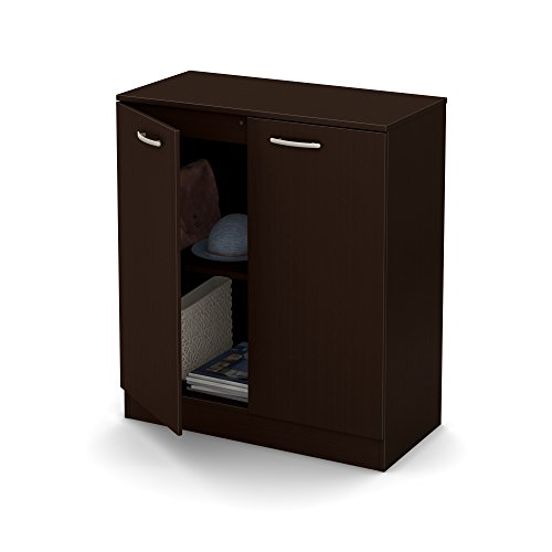 South Shore Axess Small 2-Door Storage Cabinet, Chocolate ()