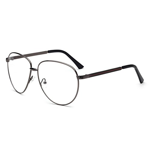 D.King Womens Fashion Oversized Round Eyeglasses Frame Clear Lens Eye Glasses - Frames For Eyeglass Face Best Oval Small