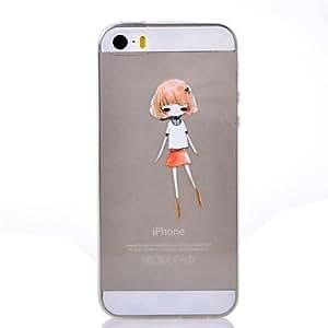 iPhone 5S Case, WBowen Beautful Girl Pattern TPU Soft Cover for iPhone 5/5S