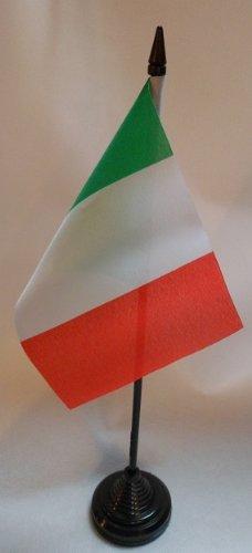 Bandiera italiana da tavolo, 10 x 15 cm, con base