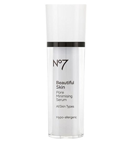 No7 Beautiful Skin : Pore Minimizing Serum 30ml (1 Oz) : Made in EU :The advanced Poreless complex helps to visibly reduce pore size and regulate sebum production to reveal beautiful clear and healthy looking skin. by No. 7 (Image #1)