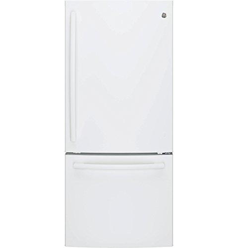Ge White Bottom Freezer Refrigerator - 5