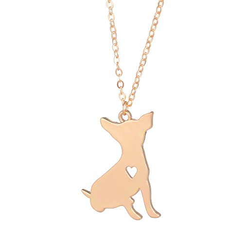 - YuQiang Gold Chihuahua Necklace Custom Dog Pet Jewelry Gift ToyDog overs