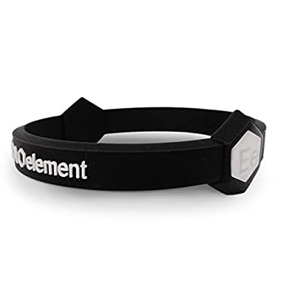 Extra Element Performance Wristband: Power, Balance, Sport, Silicone Rubber Band, for Men or Women (BLACK) Extra Small