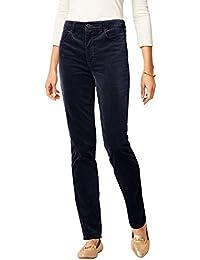 High-Rise Velveteen Straight-Leg Pants