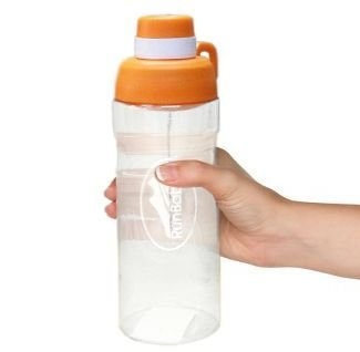 Water Bottle BPA Free: Large 32 oz Sports Water Bottles, with Easy Screw/ No Leak Hinged Cap For Convenient Hydration, For All Sport & Outdoor Activities by Run Baby Sport