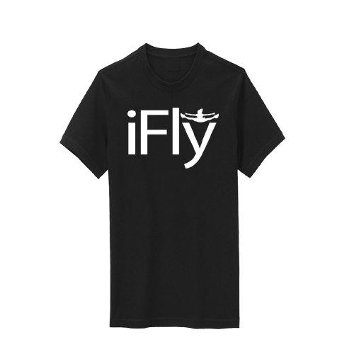 (Chosen Bows Black iFly T-Shirt, White Print, Youth)