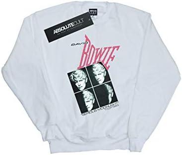 Absolute Cult David Bowie Damen Serious Moonlight Tour 83 Sweatshirt Weiß XX-Large