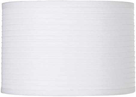 White Horizontal Pleat Drum Small Shade 11x11x7.5 Spider – Brentwood