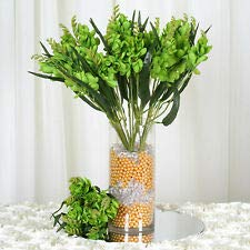 craftsnfavors 4 Lime Green Bushes Silk Freesia Wedding Flowers Bouquets Reception Decorations ()