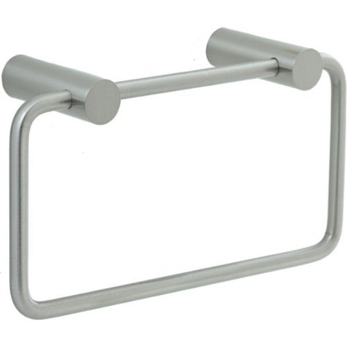 Cifial 422.440.620 Techno Straight Two-Post Towel Ring, Satin Nickel