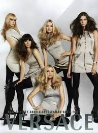 **PRINT AD** With 5 Models For 2007 Versace Clothing Set**PRINT - For Model Versace