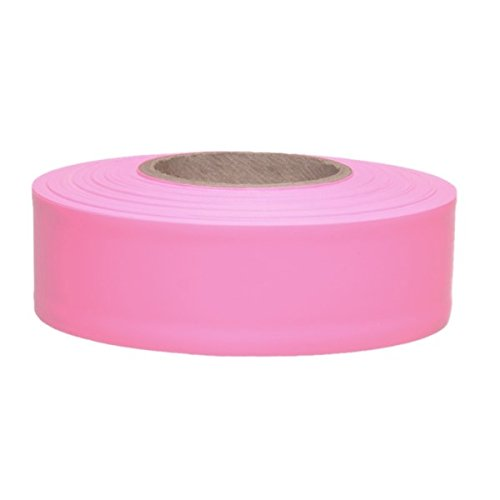 Presco Taffeta Roll Flagging Tape: 1-3/16 in. x 300 ft. (Pink Flagging Tape)