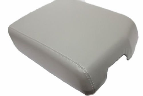Fits 2007-2013 Toyota Tundra Synthetic Gray Leather Center Console Armrest Cover . (Skin Only)