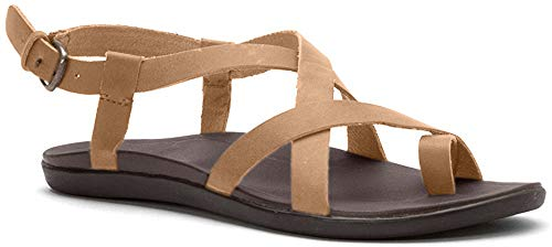 OLUKAI Womens Upena Gladiator Sandal, Golden Sand, 8 B(M) US
