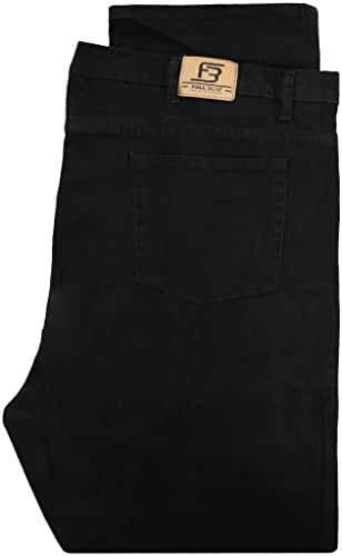 Big & Tall Men's Denim Jeans by Full Blue - Fixed Waist Black