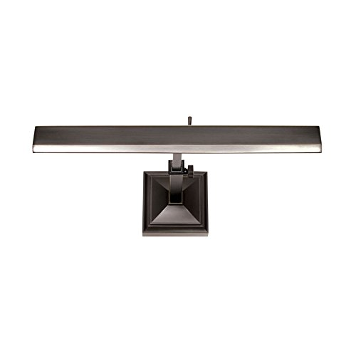WAC Lighting PL-LED14-27-RB 14in Rubbed Bronze Hemmingway LED Picture Light, Small, ()
