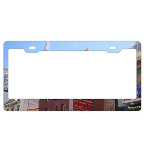 fffvv California USA Licenses Plates Frames Car Licenses Plate Covers Holders for US Vehicles