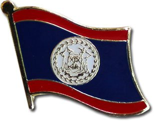 Backwoods Barnaby Belize Flag Lapel Pin/International Travel Pins by (Belize broach, 0.75