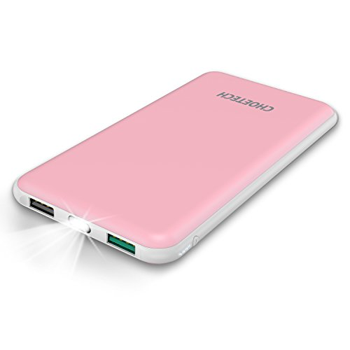 Cargador Portatil 10000mAh CHOETECH Batería Portatil Power Bank Dual USB Batería Externa para Galaxy S8/S8 Plus/Note...