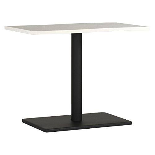 arne ダイニングテーブル 机 幅90 奥行き60 高さ70 日本製 デスク 食卓テーブル デザインテーブル River9060D ホワイト 白 WHW×BK B077Z1F9Y2 高さ:70cm/天板サイズ:90×53|WHW×BK WHW×BK 高さ:70cm/天板サイズ:90×53