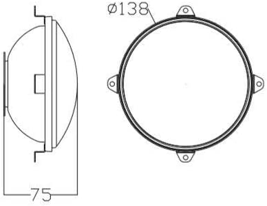 flexzon For tractor excavator digger 2x universal headlights headlamps 138mm 5.43 inches