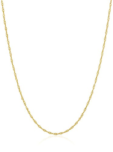 14k Yellow Gold Twist Curb Chain Necklace, 20