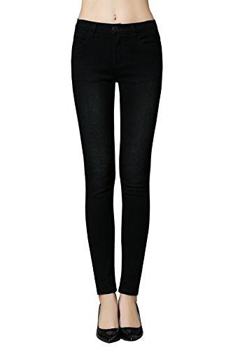 Butt Lift Skinny Jeans, ZLZ Women's Casual Stretch Jeans Leggings (10, Black) (Petite Designer Jeans)