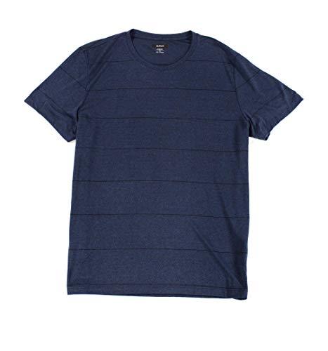 Alfani Navy Stripe - Alfani Men's Premium Stripe V-Neck T-Shirt (Authentic Navy, Large)