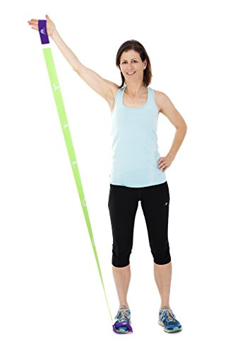Exercise Band By Santulana Fitness Stretch Band Tone and Sculpt All Muscle Groups. Suitable for Stretching. 6 Loops for Various Resistance Levels. Soft Handles, No Latex Smell. Super Comfort Grip.