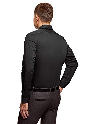 Uomo Oodji Camicia Maniche Con Ultra 2900n Nero Basic Lunghe 5BBaq