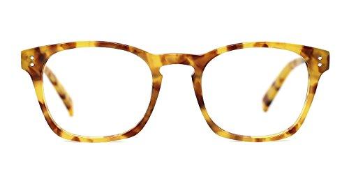 TIJN Wayfarer Shape Design Eyeglasses Whisky Tortoise - Frame Yellow Eyeglasses