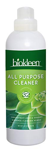 Biokleen All Purpose Cleaner, Super Concentrated, Eco-Friendly, Non-Toxic, Plant-Based, No Artificial Fragrance, Colors or Preservatives, 32 Ounces