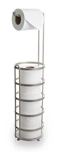 BINO 'Lafayette' Free Standing Toilet Paper Holder, Nickel Toilet Paper Caddy