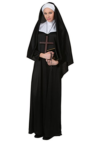 Fun Costumes Adult Traditional Nun Costume Medium -