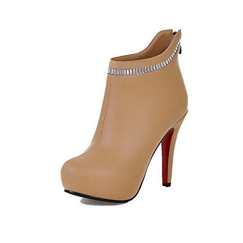 new concept ca46a 6c361 AllhqFashion Women s High-Heels Soft Material Ankle-high Solid Zipper  Zipper Zipper Boots B01MG0KJSP Shoes e20398