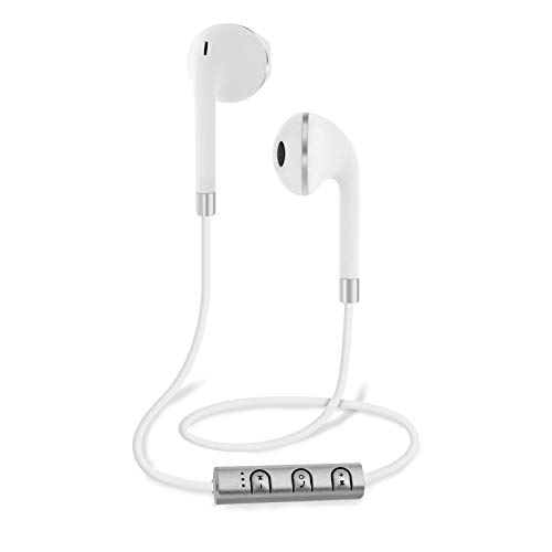 Bluetooth Wireless Stereo Earbuds with Mic -White