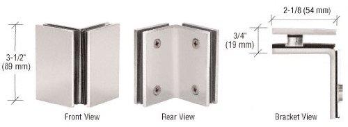 CRL Satin Nickel Geneva Series Glass-to-Glass Bracket